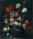 Workshop Of Mario Nuzzi, Ein Blumenstrauß in einer Vase