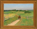 Immanuel Ibsen, Scenery with horse carriage