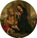 Follower Of Filippo (Filippino) Lippi, The Holy Family with the Infant Saint John the Baptist