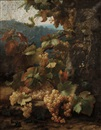 Alexis Kreyder, Landscape with grapes on the vine