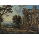 Attributed To Pierre Patel, Landscape with classical ruins