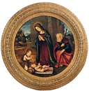 Circle Of Filippo (Filippino) Lippi, The Holy Family with the infant St. John the Baptist