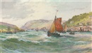 George Henry Jenkins, Fishing trawlers running into Salcombe harbour, Devon