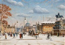 Waldemar Sewohl, Winter scene in front of the Berlin castle