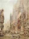 Paul Marny, Procession before a French cathedral
