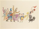 Quentin Blake, Illustrations for Grimble (set of 4)