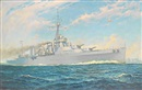 William McDowell, The Argentinian training cruiser La Argentina steaming at speed