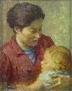 Mischa Askenazy, Mother and child, believed to be the artist's wife and daughter
