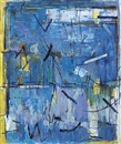 Yvonne Audette, Composition in blue