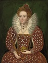 Follower Of Federico Zuccaro, Portrait of Queen Elizabeth I in an embroidered and bejeweled red dress