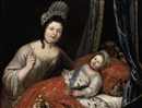 Circle Of Pierre Mignard, Portrait of Louis XIV as an infant, with the royal nurse Madame A. Melin