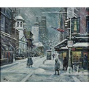 Philip A. Corley, Bleecker St., the Village, NYC in winter