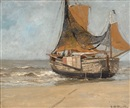 Gerhard Arij Ludwig Morgenstjerne Munthe, Barge on the beach