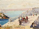 Rudolph Negely, Children playing on a bridge on the Capri Island