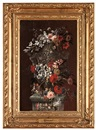 Attributed To Jean-Michel Picart, Blomsterstilleben (+ another; pair)