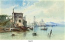Edwin St. John, Capriccio of the Italian coast (+ another; pair)