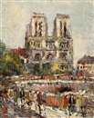 Alfons Jan Frans Brunott, View of the Notre-Dame in Paris