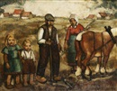 Barth Verschaeren, Farmer's family at the field