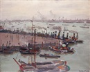 Valdo-Barbey (Valdo Louis Barbey), Le port de Rotterdam en Hollande