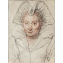 Attributed To Federico Zuccaro, Portrait of a lady, head and shoulders, wearing an elaborate headdress