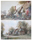 James Hughes Clayton, Cottage at Evesham (+ A Warwickshire cottage; pair)