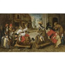Workshop Of Pieter Brueghel the Younger, The battle between carnival and lent