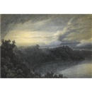 John Robert Cozens, The Lake of Albano and Castel Gandolfo