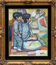 Irving Amen, Untitled 1 (Kneeling mother and son)