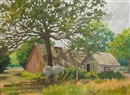 Edward Burns Quigley, A summer landscape with farm buildings