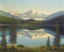 Charles Augustus Swanson, Mountain landscape (+ Lake view with mountains in the distance, lrgr; 2 works)
