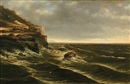 William Henry Short Jr., Coastal seascape with figures