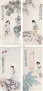 Qian Zheming, Four ladies (4 works)