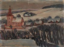 Josef Kubicek, A view of a church in Slatina nad Zdobnici