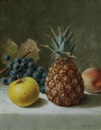 George Harvey, Still life with pineapple