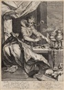 Willem Isaaksz Swanenburgh the Elder, Vanitas (after Abraham Bloemaert)