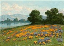 William Franklin Jackson, California landscape with wildflowers