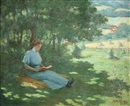 George R. Havelka, Woman reading, a quiet moment