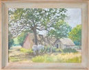 Edward Burns Quigley, A horse under a tree with a shed in the background