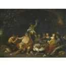 Studio Of Simon de Vos, A bacchanal in a grotto