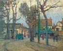 Paul Cornoyer, A village street