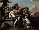 Gerard Hoet the Elder, A Bacchanal with nymphs and satyrs