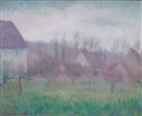 Theodore Earl Butler, Farm orchard in winter, Giverny