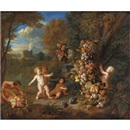 Jan Pauwel Gillemans the Younger, Trionfo di frutta con putti