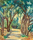 Arieh Allweil, Wooded path