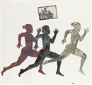 Nancy Spero, Three running figures