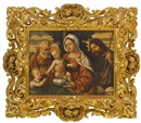 Manner Of Giovanni Bellini, Madonna mit Kind, Johannesknaben, Hl. Joseph und Hl. Rochus