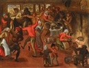 Circle Of Pieter Brueghel the Younger, Bauernfest in einer Stube