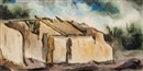 Earl Stroh, Old adobe house - Taos, New Mexico