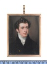 John Cox Dillman Engleheart, A gentleman, wearing black coat, black waistcoat, white chemise, cravat and stock
