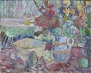 Helena Zaremba-Cybisowa, Bouquet sur la table